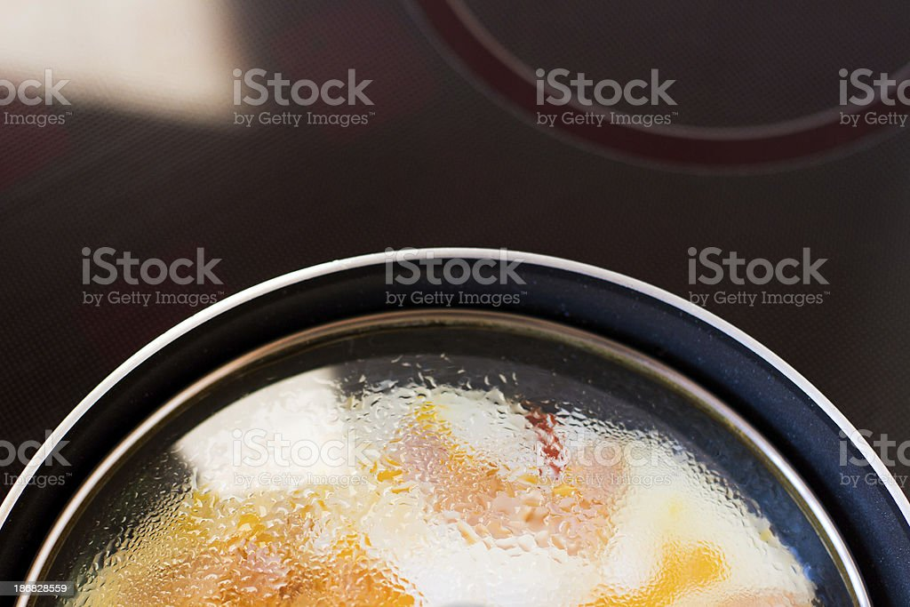 Drops on the lid royalty-free stock photo