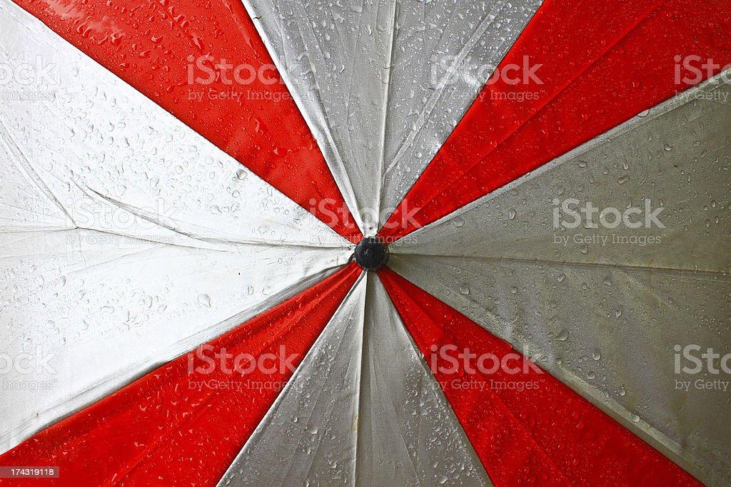 Drops on the umbrella royalty-free stock photo