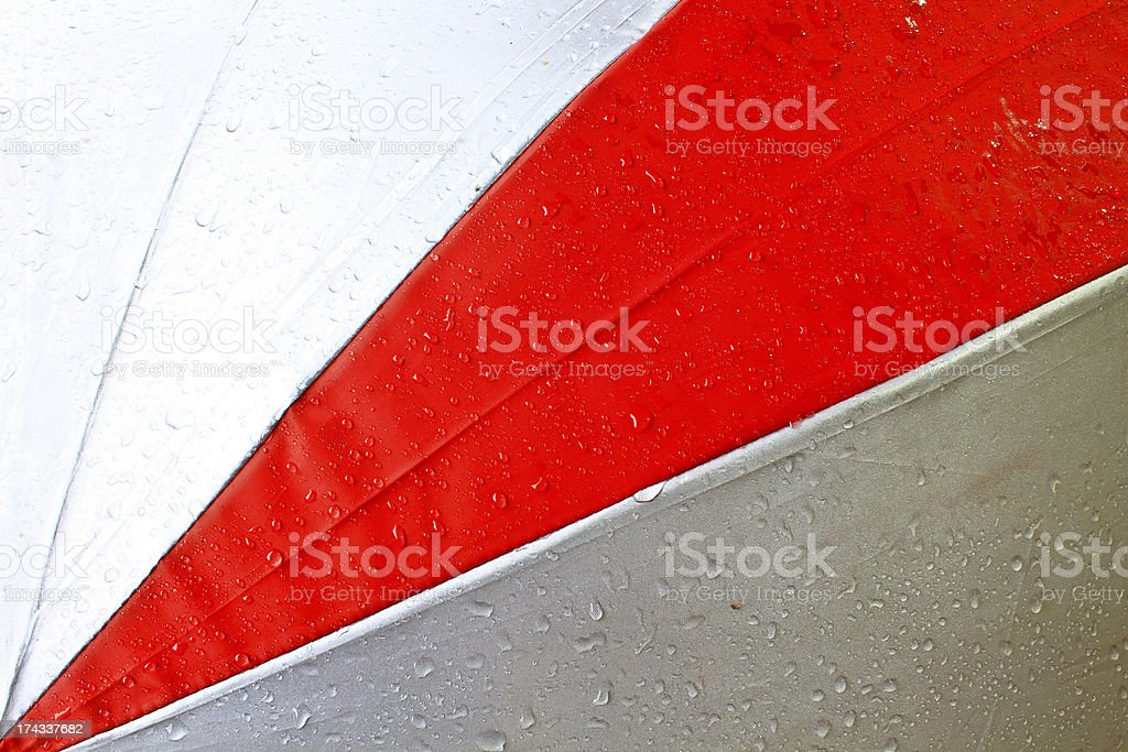 Drops on the umbrella royalty-free stock photo
