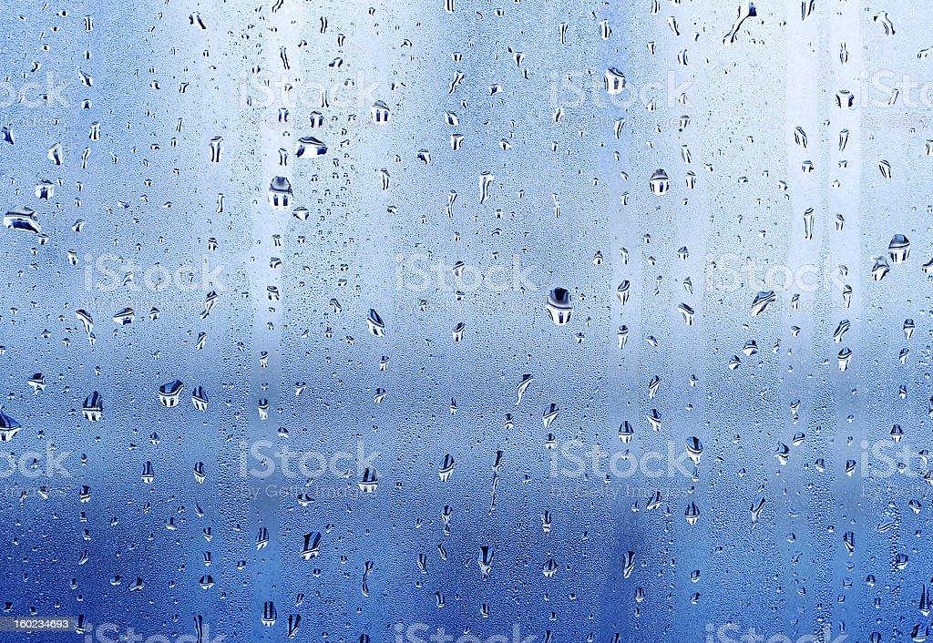 Drops on the windowpane royalty-free stock photo