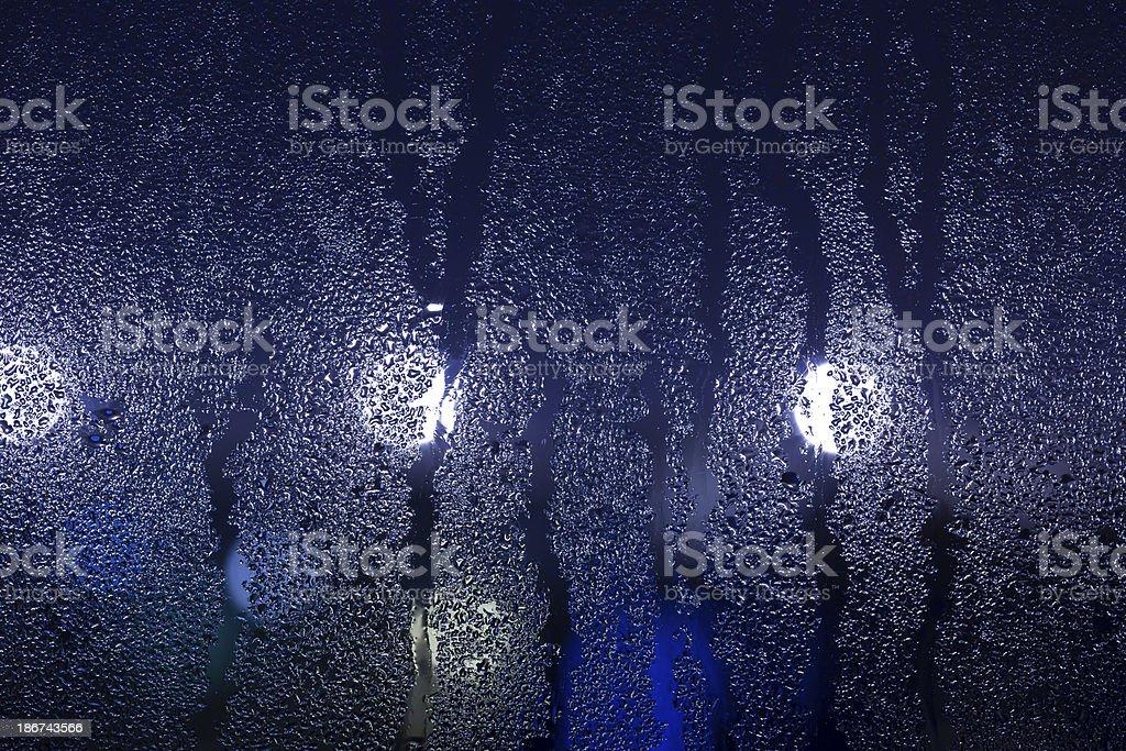 drops on window - night royalty-free stock photo