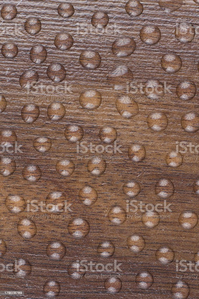 Drops  on wood royalty-free stock photo