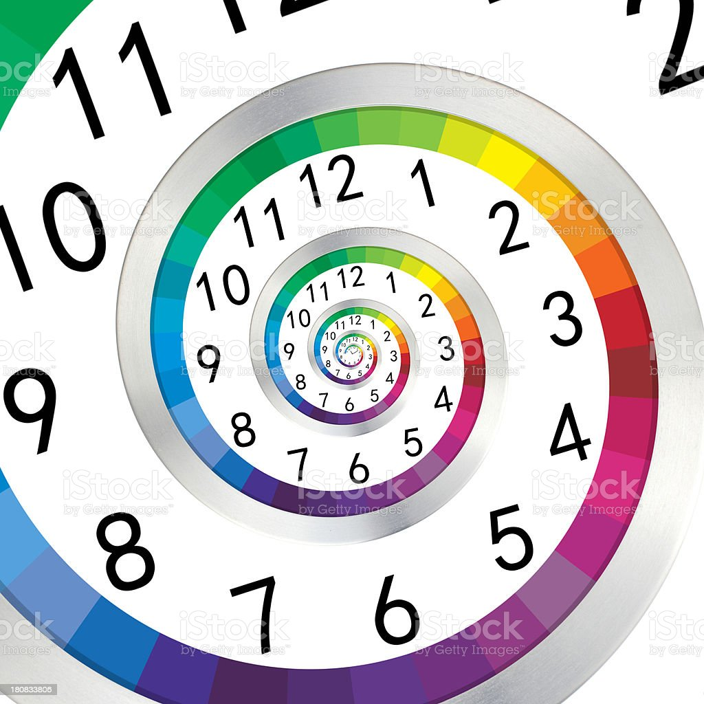 Droste clock royalty-free stock photo