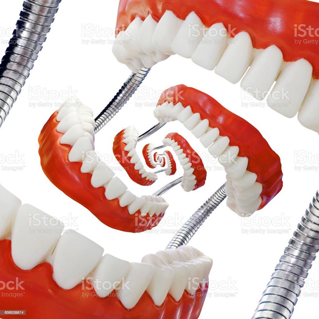 Droste Denture Model Cutout stock photo