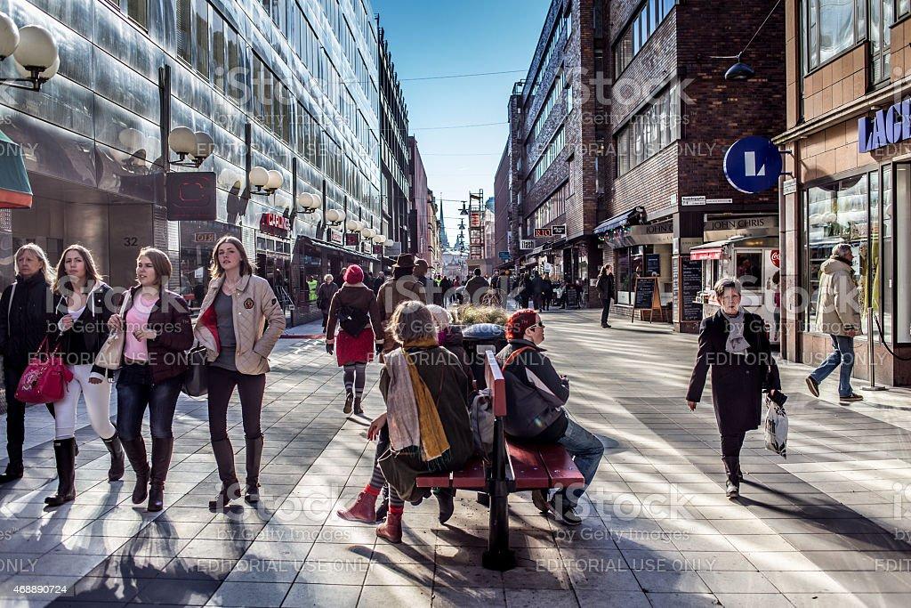 Drottninggatan stock photo