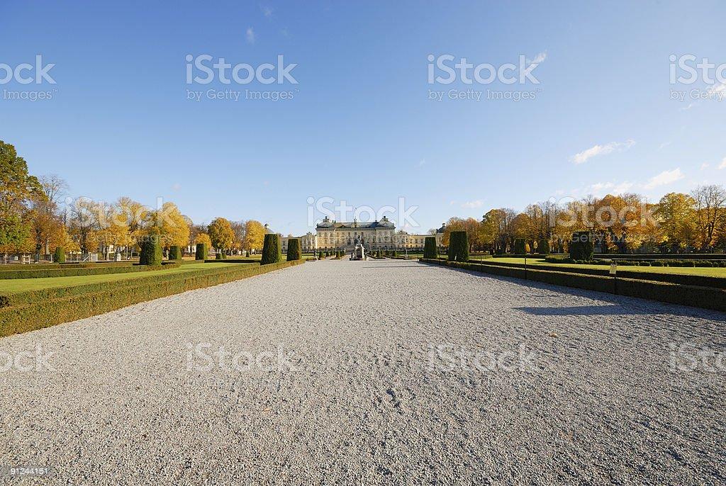 Drottningholm castle and park. stock photo
