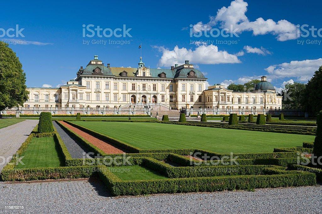 Drottningholm in summer (Sweden) stock photo