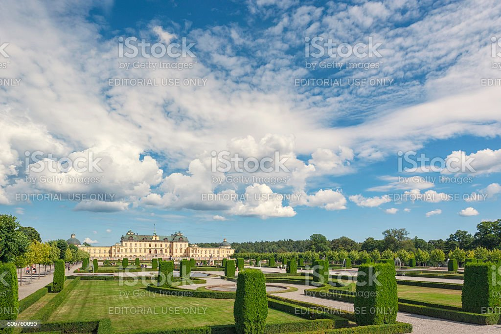 Drottningholm Palace and gardens stock photo
