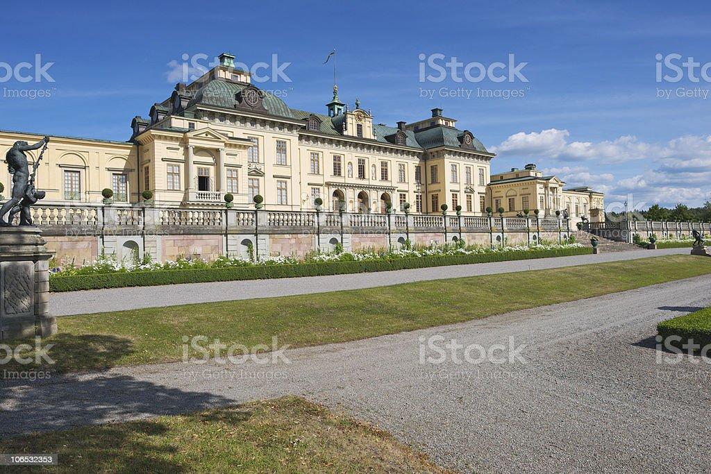 Drottningholm Royal Castle in Ekerö Municipality, Stockholm County stock photo