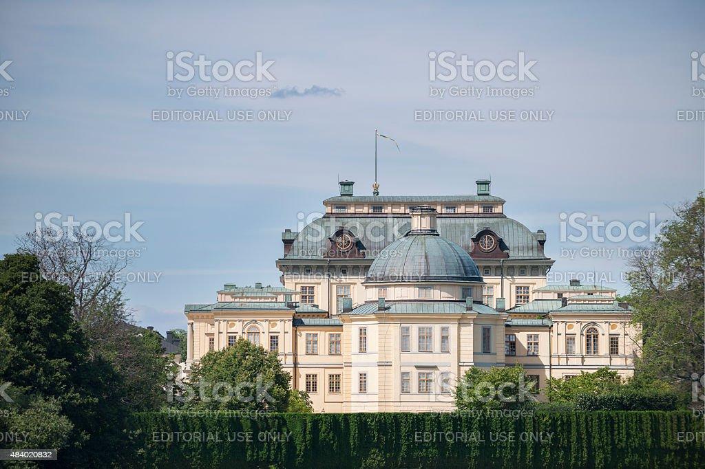 Drottningholm Royal Castle in Ekero Municipality, Stockholm County, Sweden stock photo