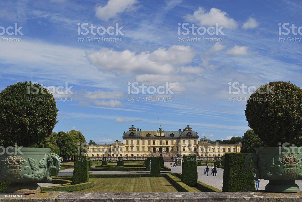 Drottningholm, the Swedish royal residence stock photo