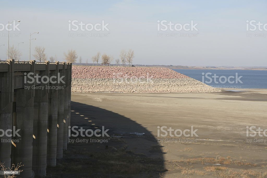 Drought Affected Lake stock photo