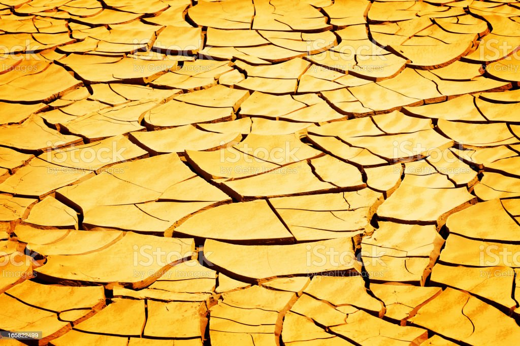 Drought: Cracked Earth Background royalty-free stock photo