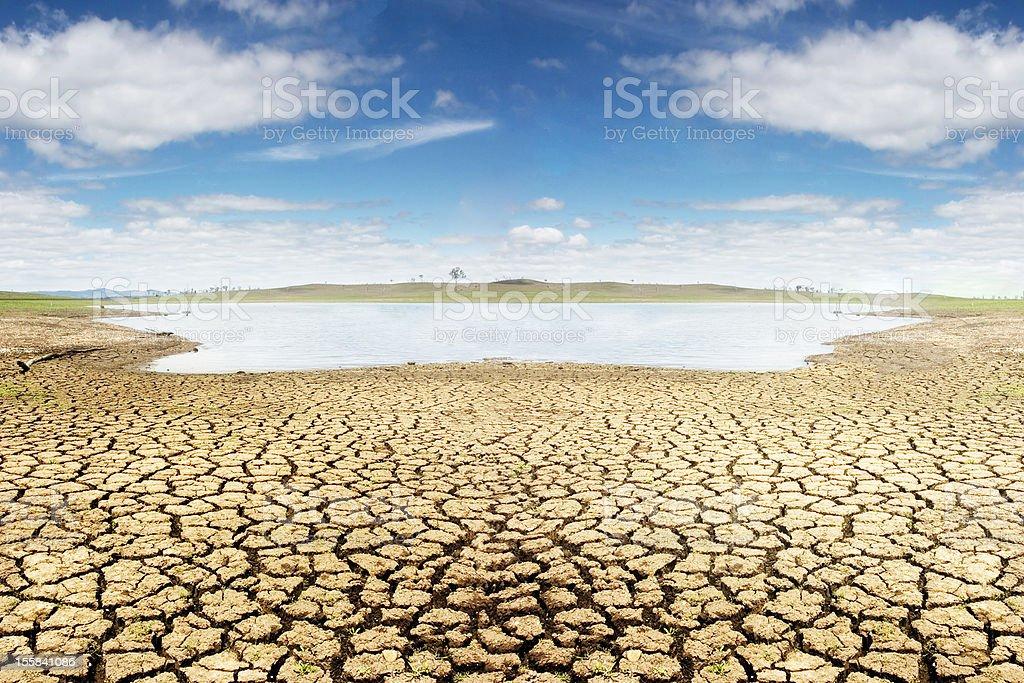 Drought in Australia stock photo