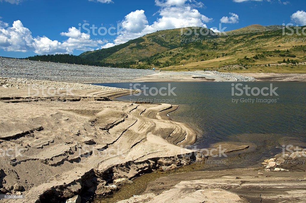 Drought mountain lake royalty-free stock photo