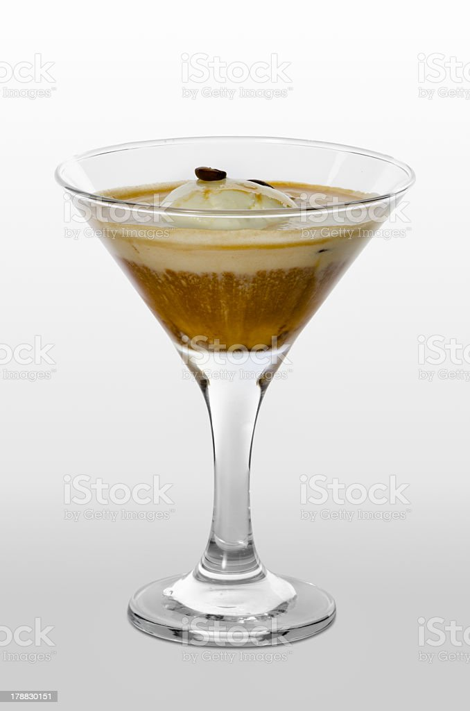 Affogato bianco royalty-free stock photo