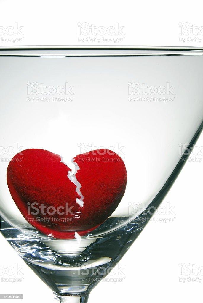Drowning a Broken Heart royalty-free stock photo