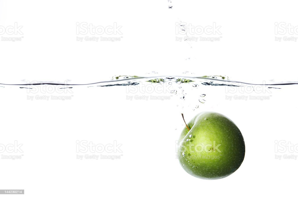drowning apple royalty-free stock photo