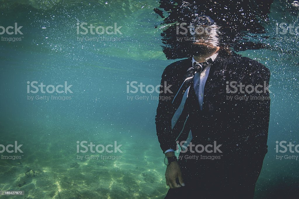 Drowning Business stock photo