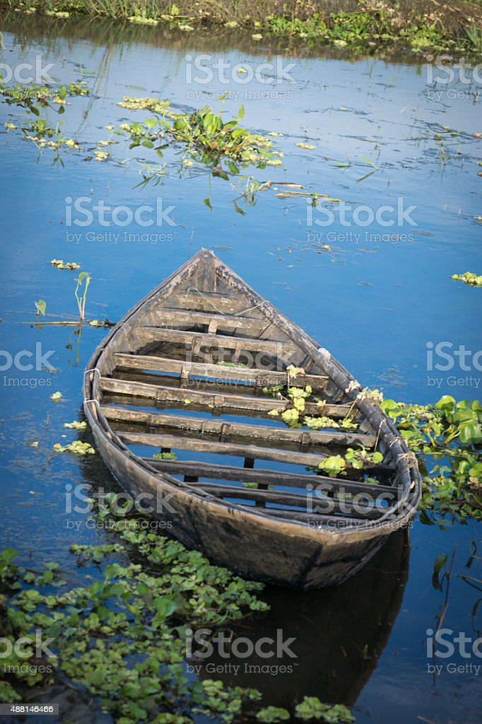 Drowning cockle-boat! stock photo