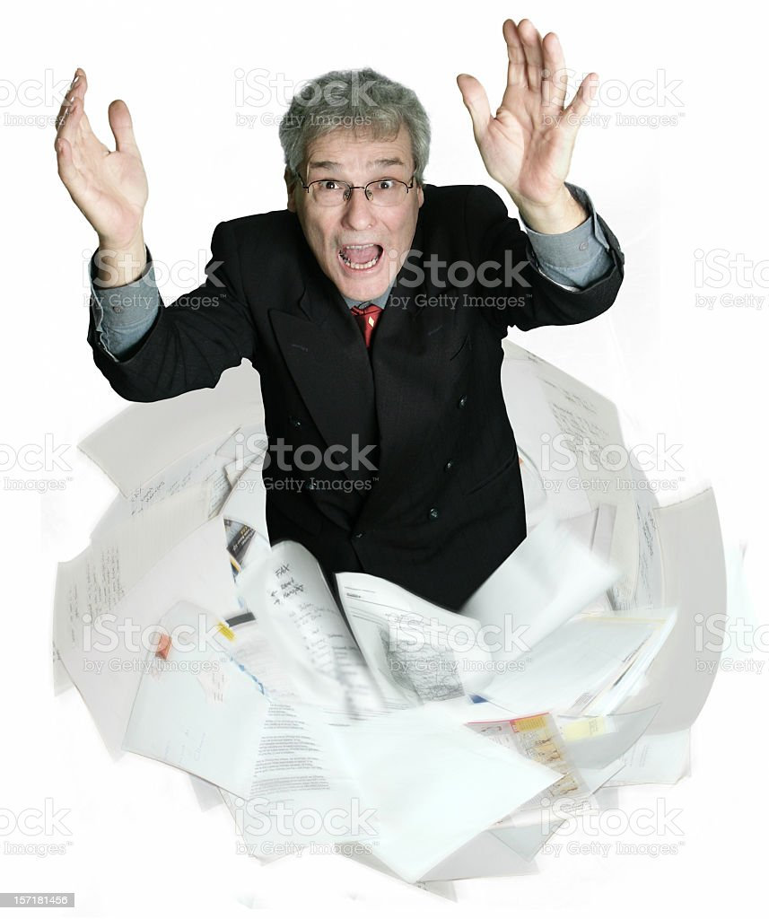 Drowning in mail royalty-free stock photo