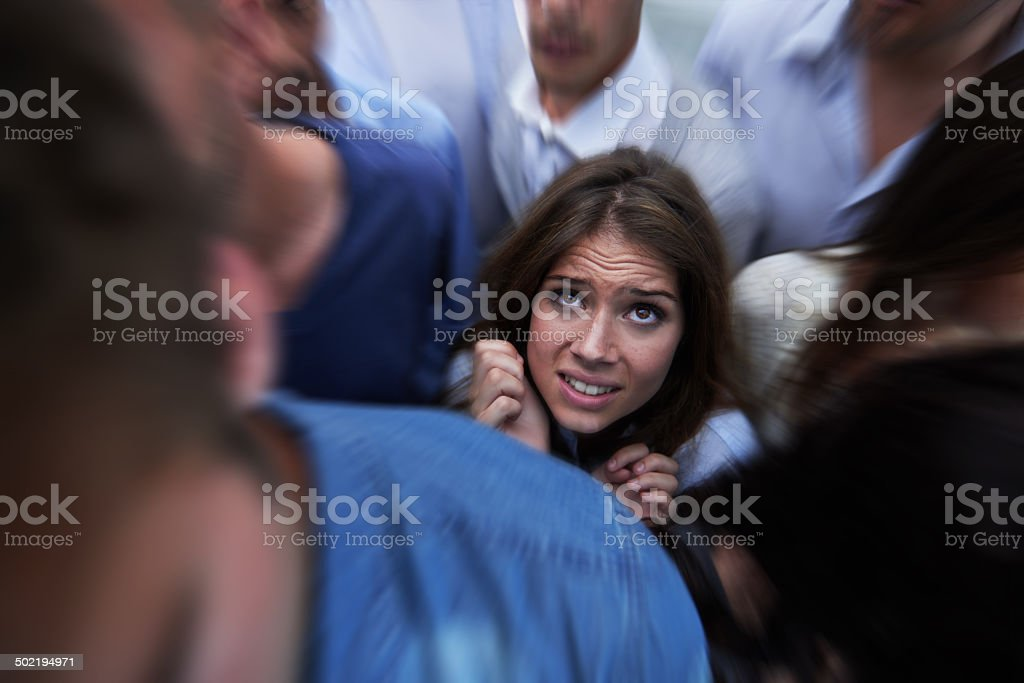 Drowning in people stock photo