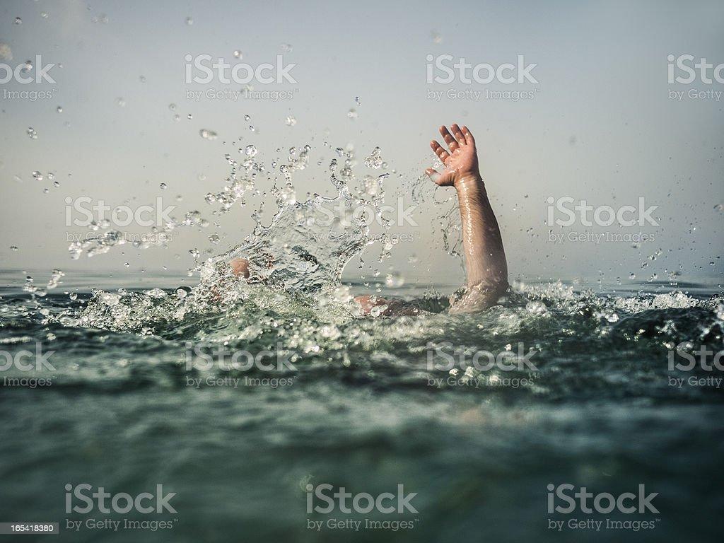 Drowning royalty-free stock photo