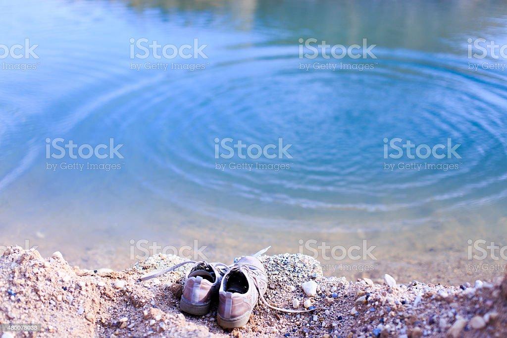 drowning stock photo