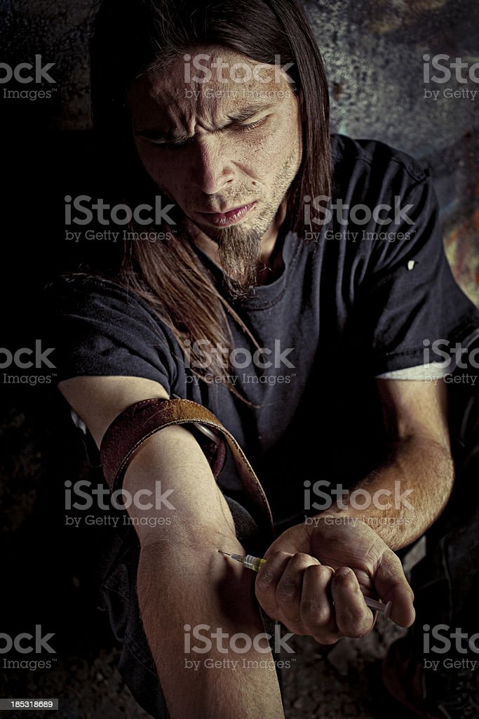 Drug Addict royalty-free stock photo
