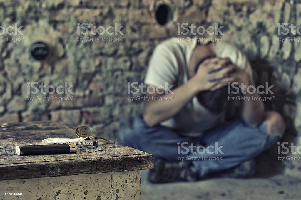 Drug addiction crisis stock photo