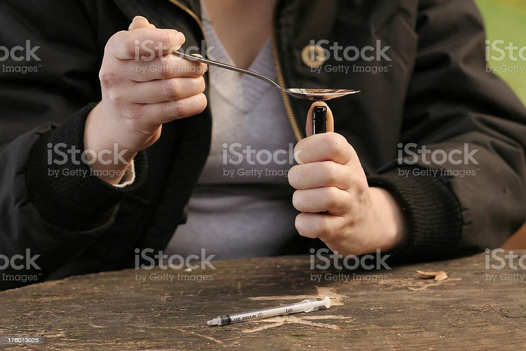 Drug Addiction royalty-free stock photo