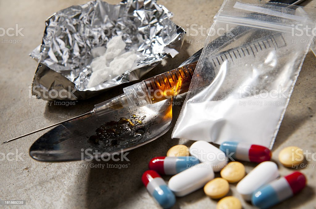Drug Addiction royalty-free stock photo