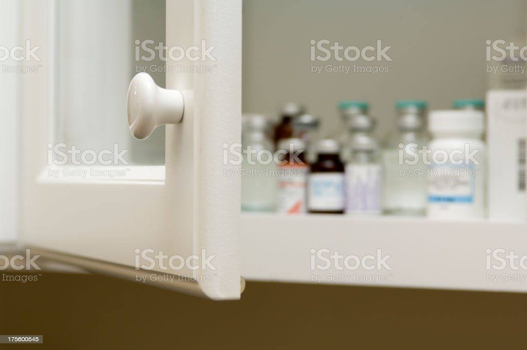 Drug Cabinet stock photo