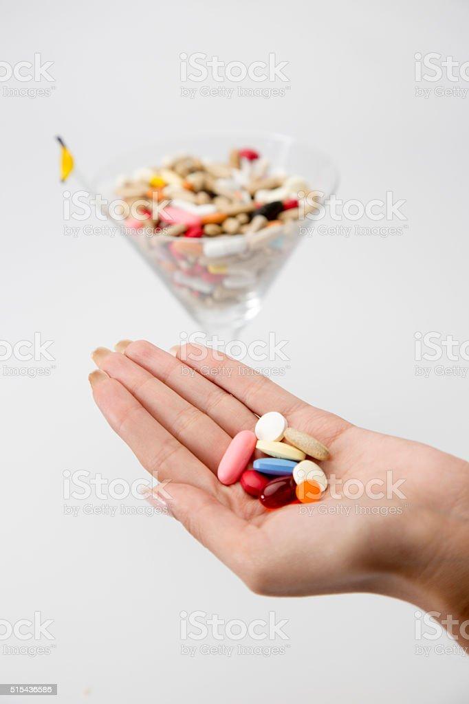 drug cocktail stock photo