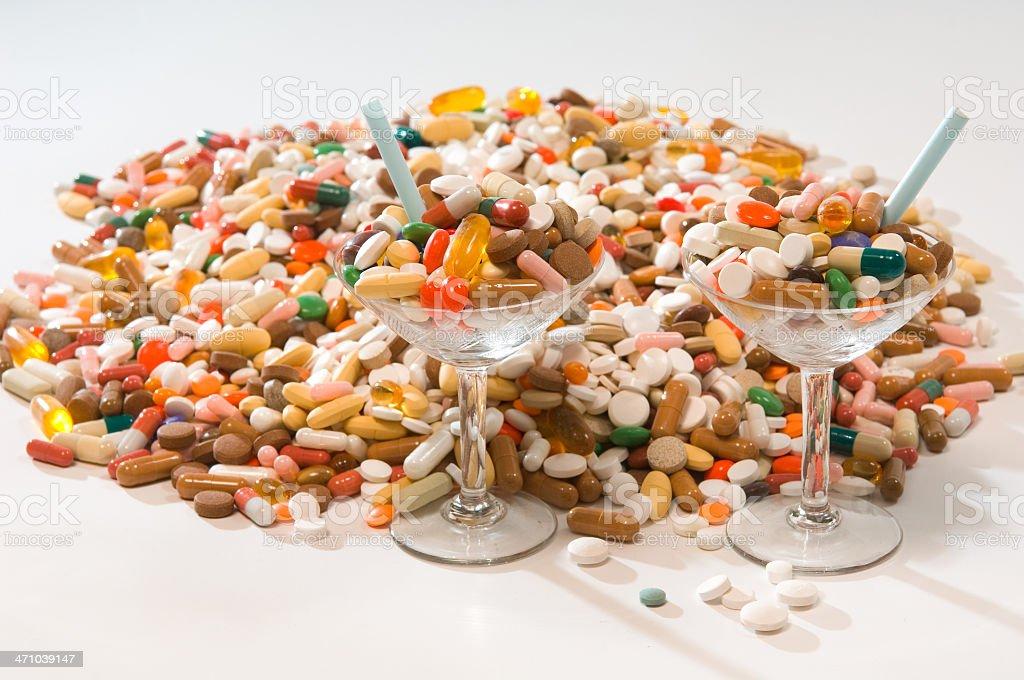 drug cocktails stock photo