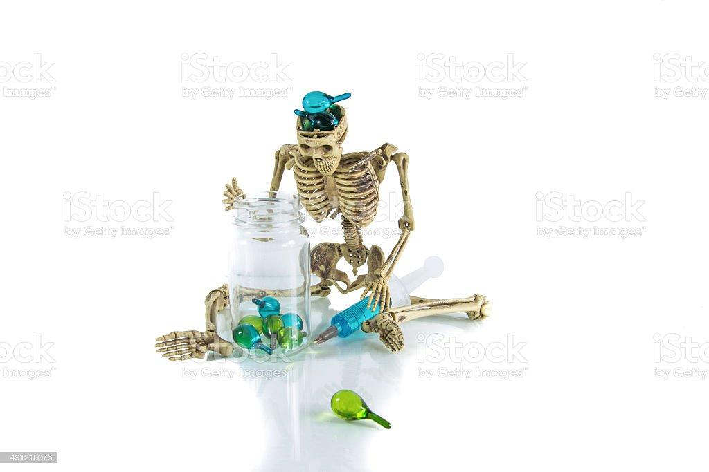 drug gefährlich Skelett Lizenzfreies stock-foto