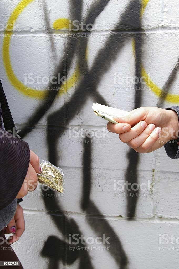 Drug Deal royalty-free stock photo