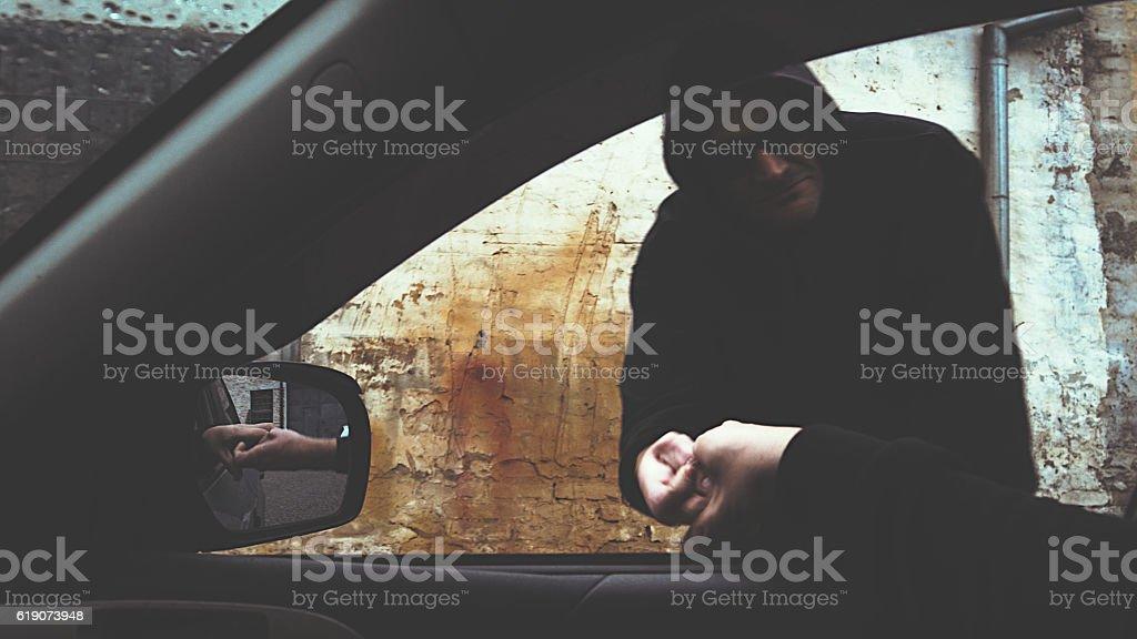 drug dealer selling portions of heroine stock photo