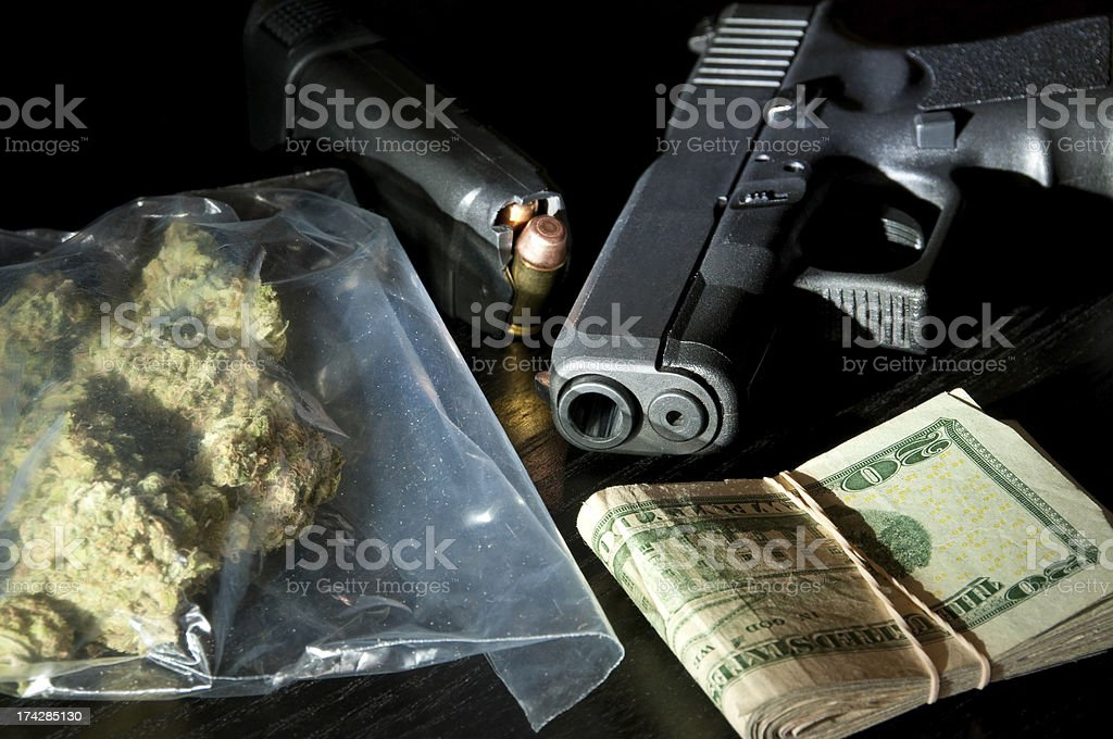 Drug Dealing Concept stock photo