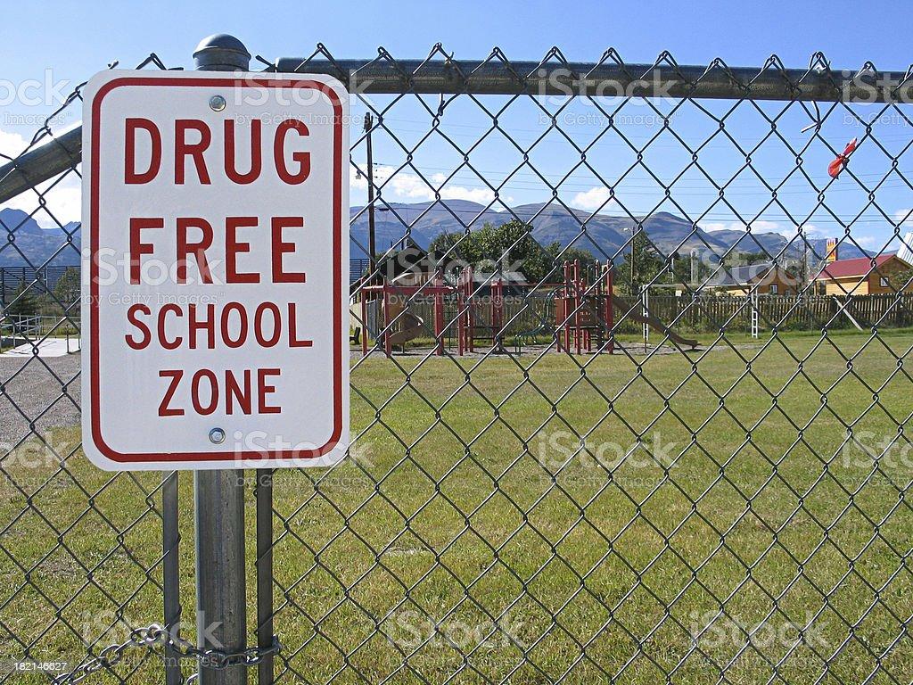 Drug Free School Zone stock photo