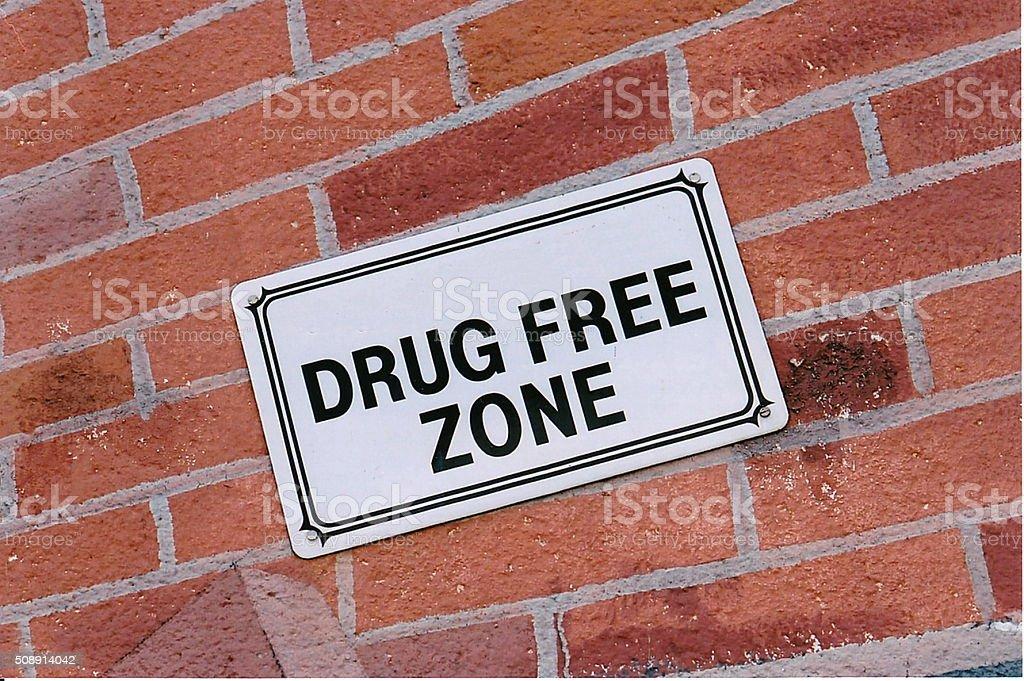 Drug Free Zone stock photo