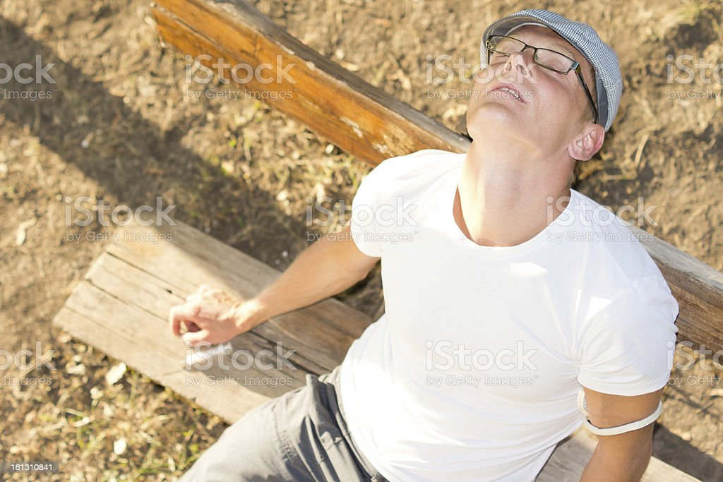 Drug male user experiencing euphoria royalty-free stock photo