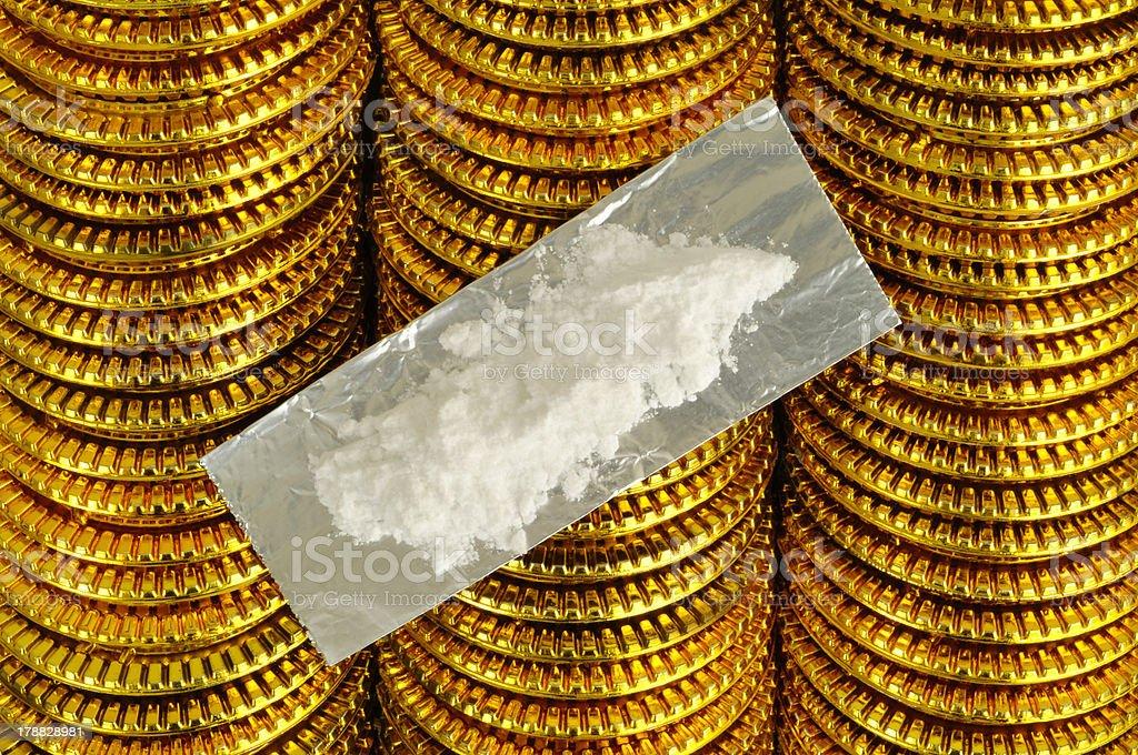 Drug Money stock photo