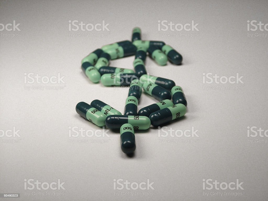 Drug Money royalty-free stock photo