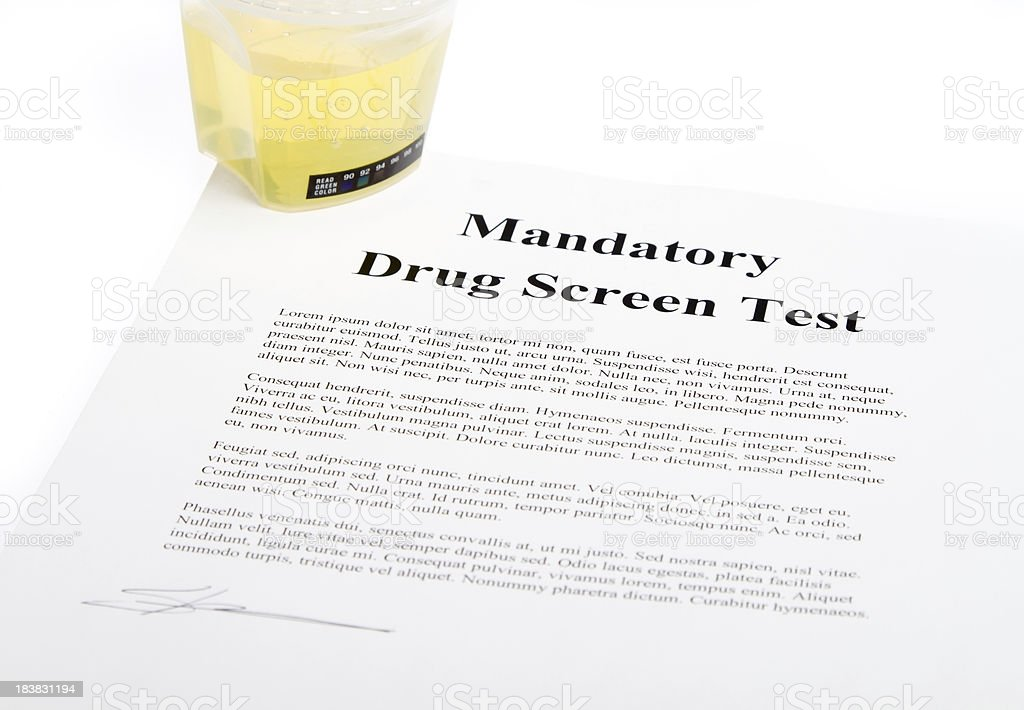 Drug Screen test stock photo