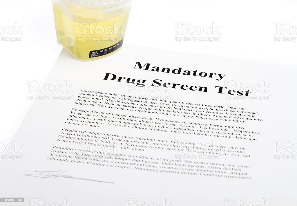 Drug Screen test stock photo