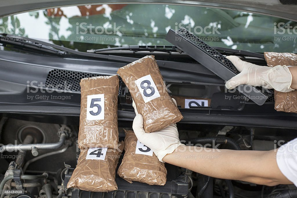 Drug smuggling royalty-free stock photo