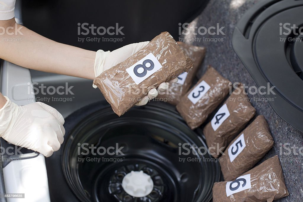 Drug smuggling royalty-free stock photo