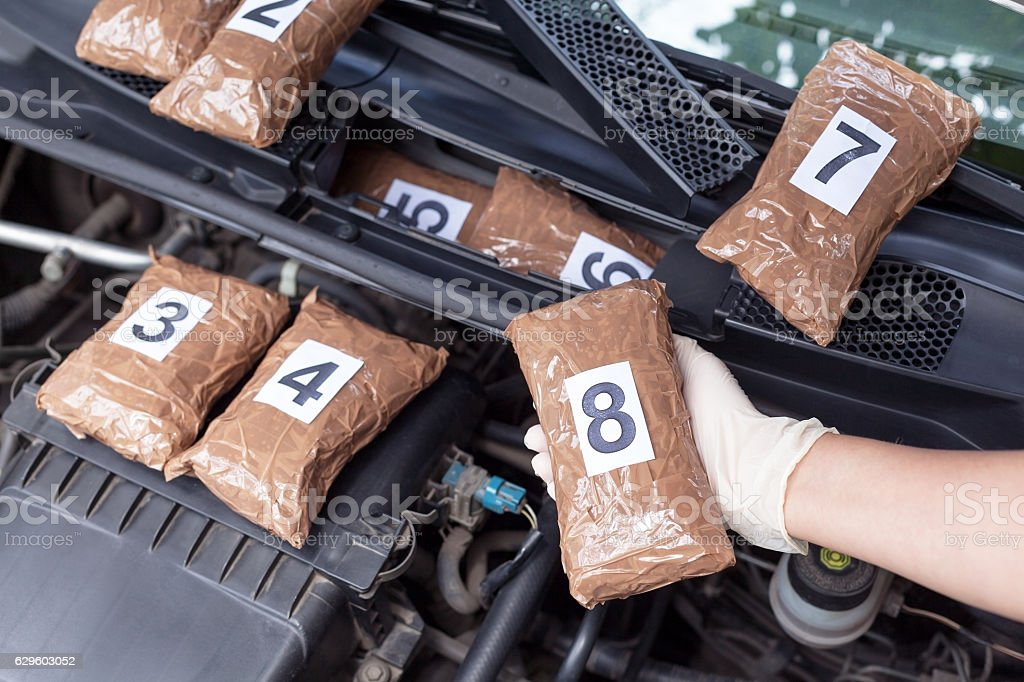 Drug smuggling stock photo