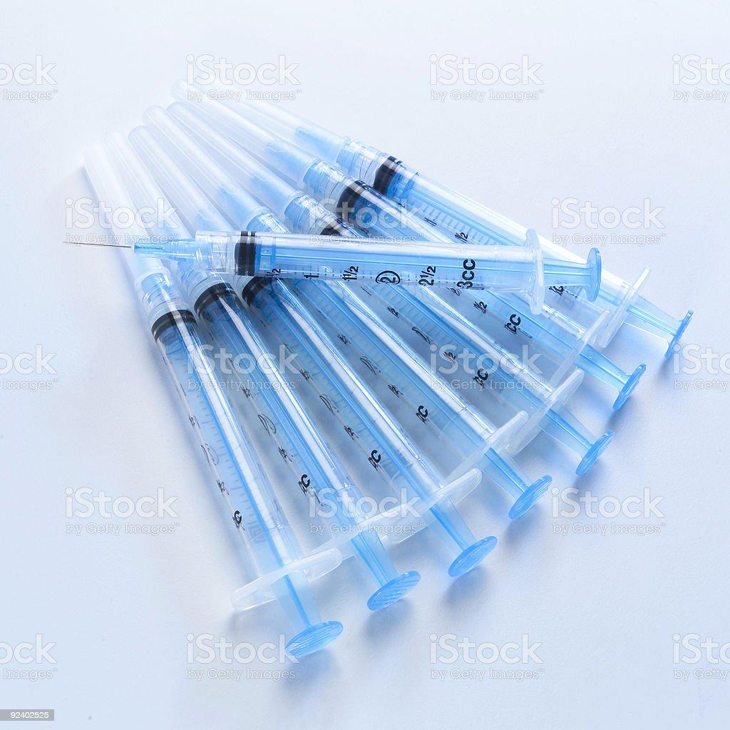 Drug syringes royalty-free stock photo